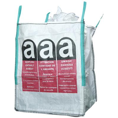 big bag 90 x 90 x 110 cm sch rze beschichtet mit asbest warndruck ebay. Black Bedroom Furniture Sets. Home Design Ideas